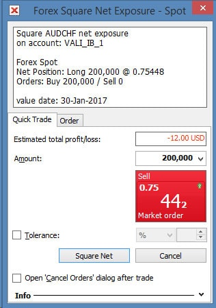 Forex Square Net Exposure